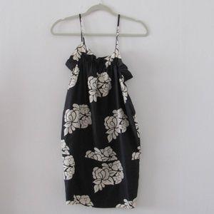 Club Monaco Silk Floral Mini Dress Small Petite